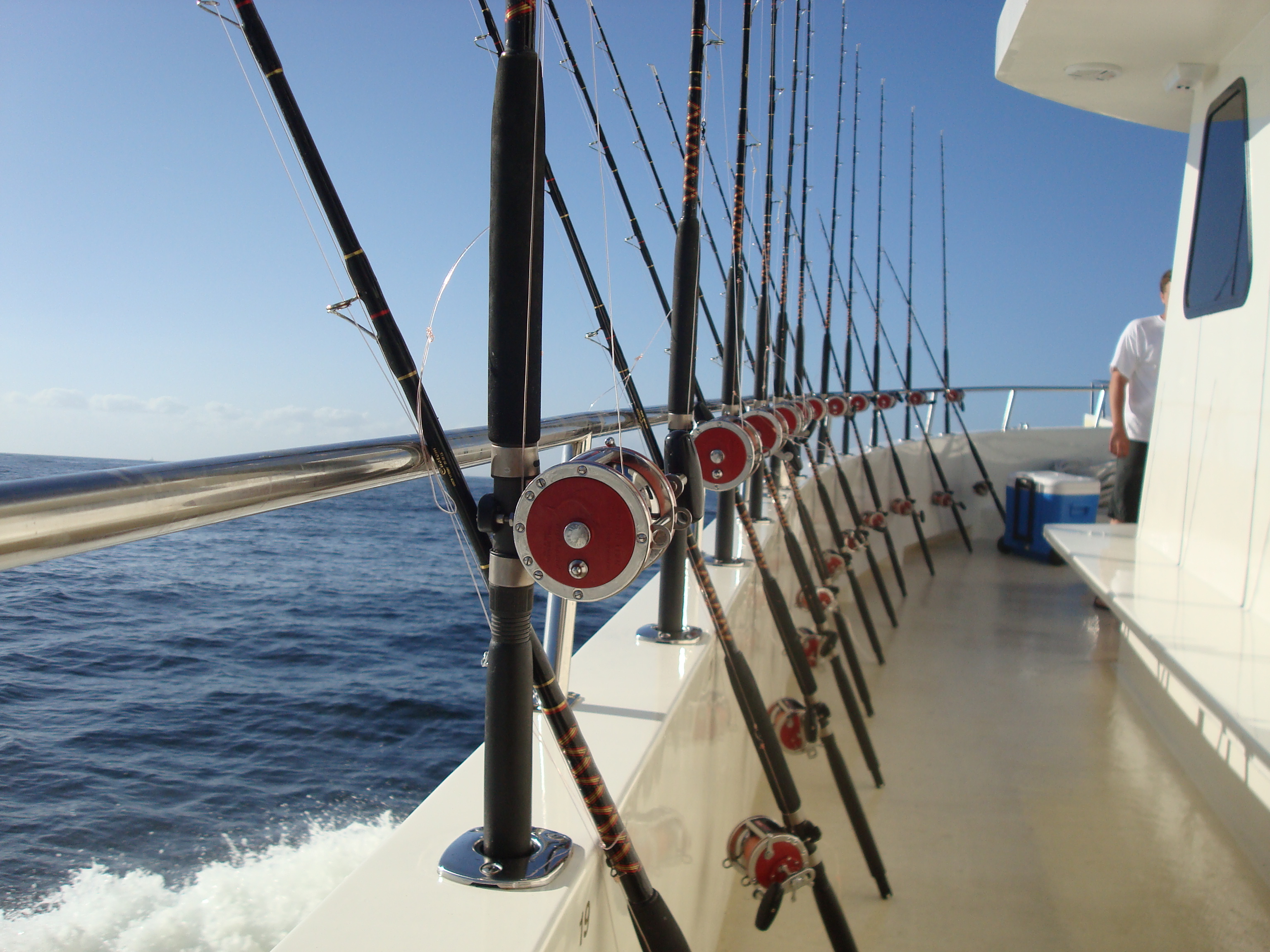 boat fishing rod