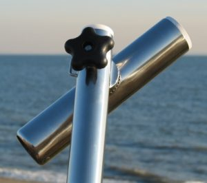 steel fishing rod holders