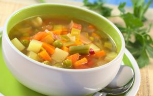 vegetable soup for mid afternoon snack